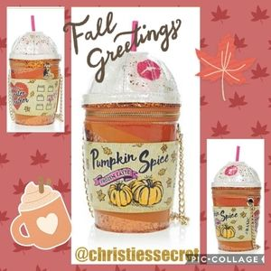 🍁BETSEY JOHNSON PUMPKIN SPICE LATTE CUP☕ PURSE🍂